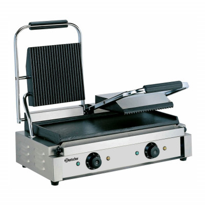 "Double contact grill ""Bartscher"" A150673 (grooved & plain)"