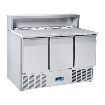 """3 doors refrigerated saladette with pizza top """"Coolhead"""" CRP 93A"""